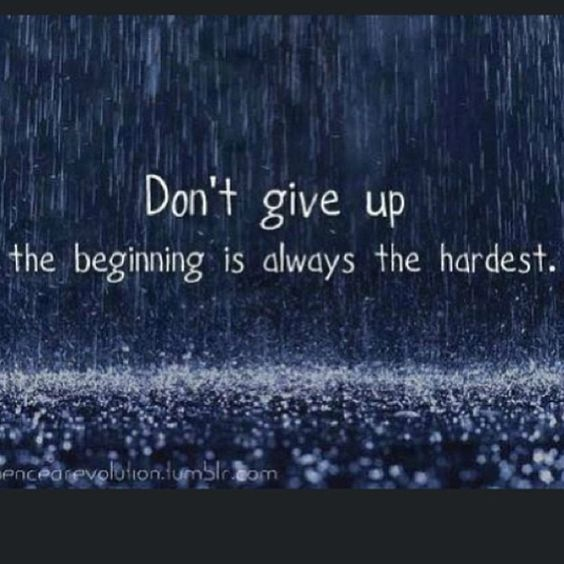 adage don't give up