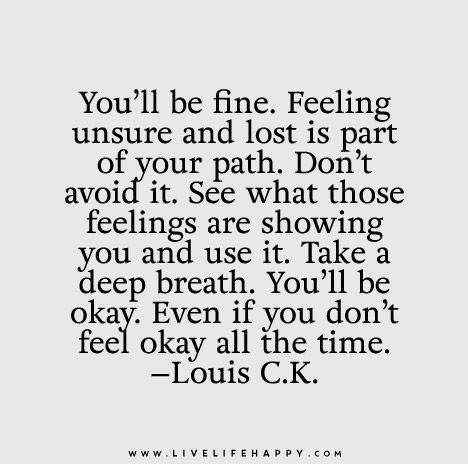 you'll be fine