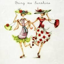girls in sunshine
